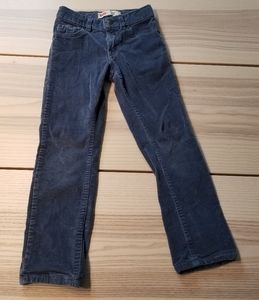 Levis boys size 7 regular blue corduroy cords pant